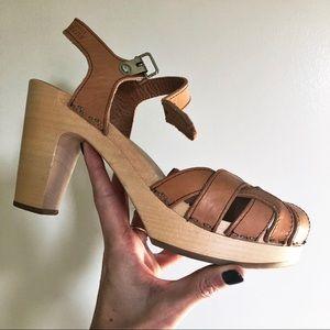 Swedish Hasbeens Pearl Sky High heels 👠